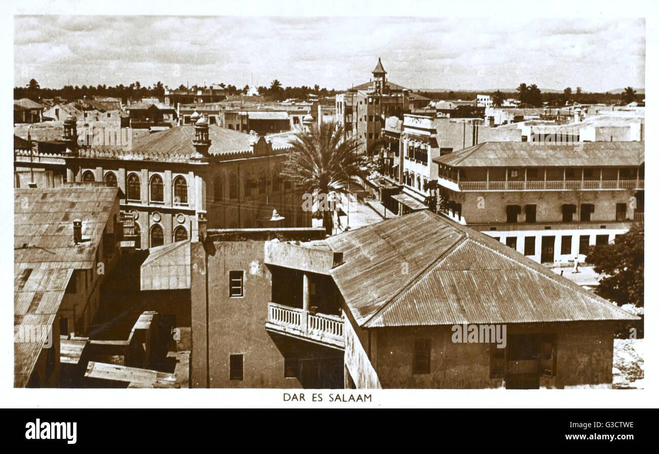 Dar es Salaam - Tanzanie - vue sur les toits Date: 1950 Photo Stock