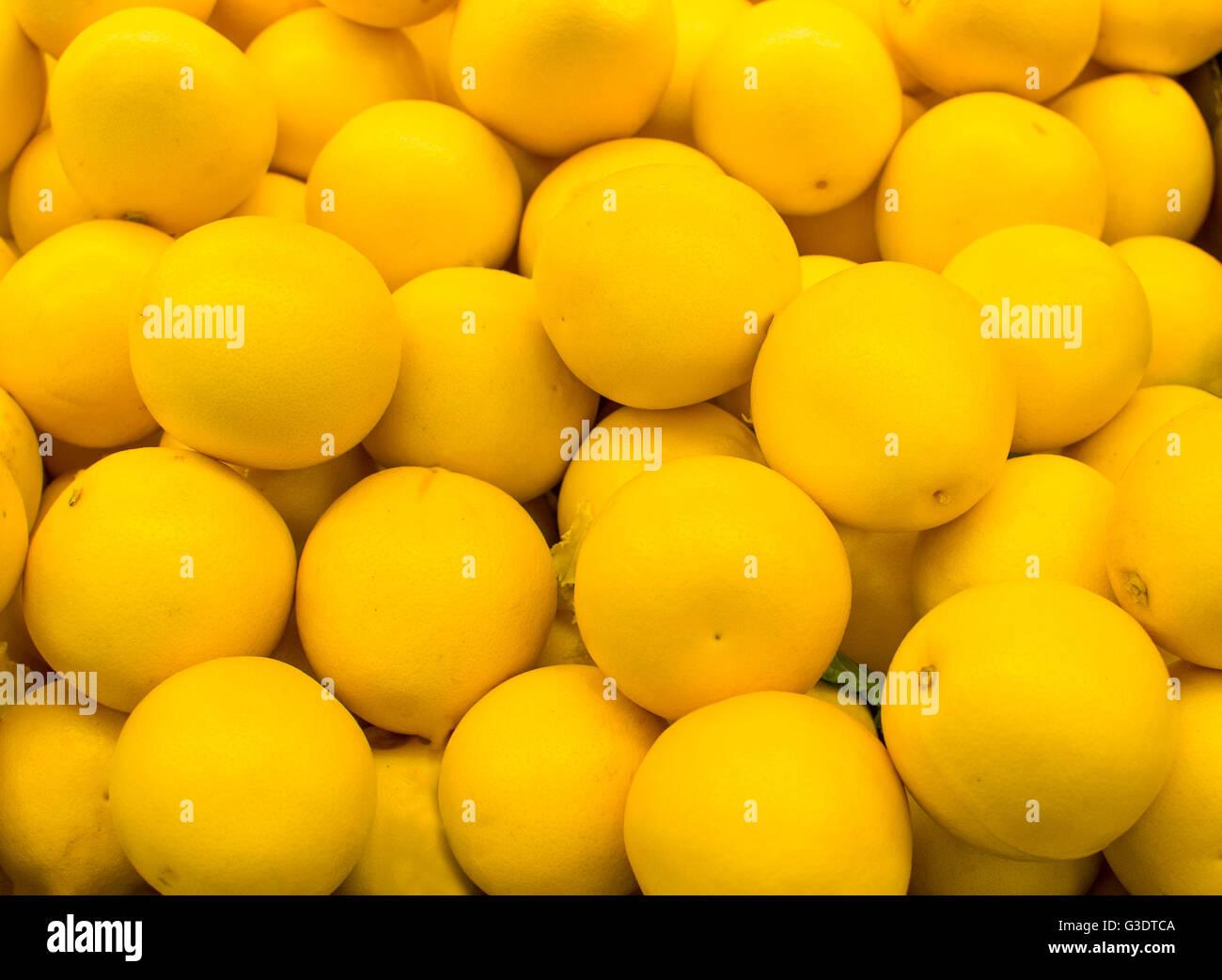 Citrons jaune fonds textures Photo Stock