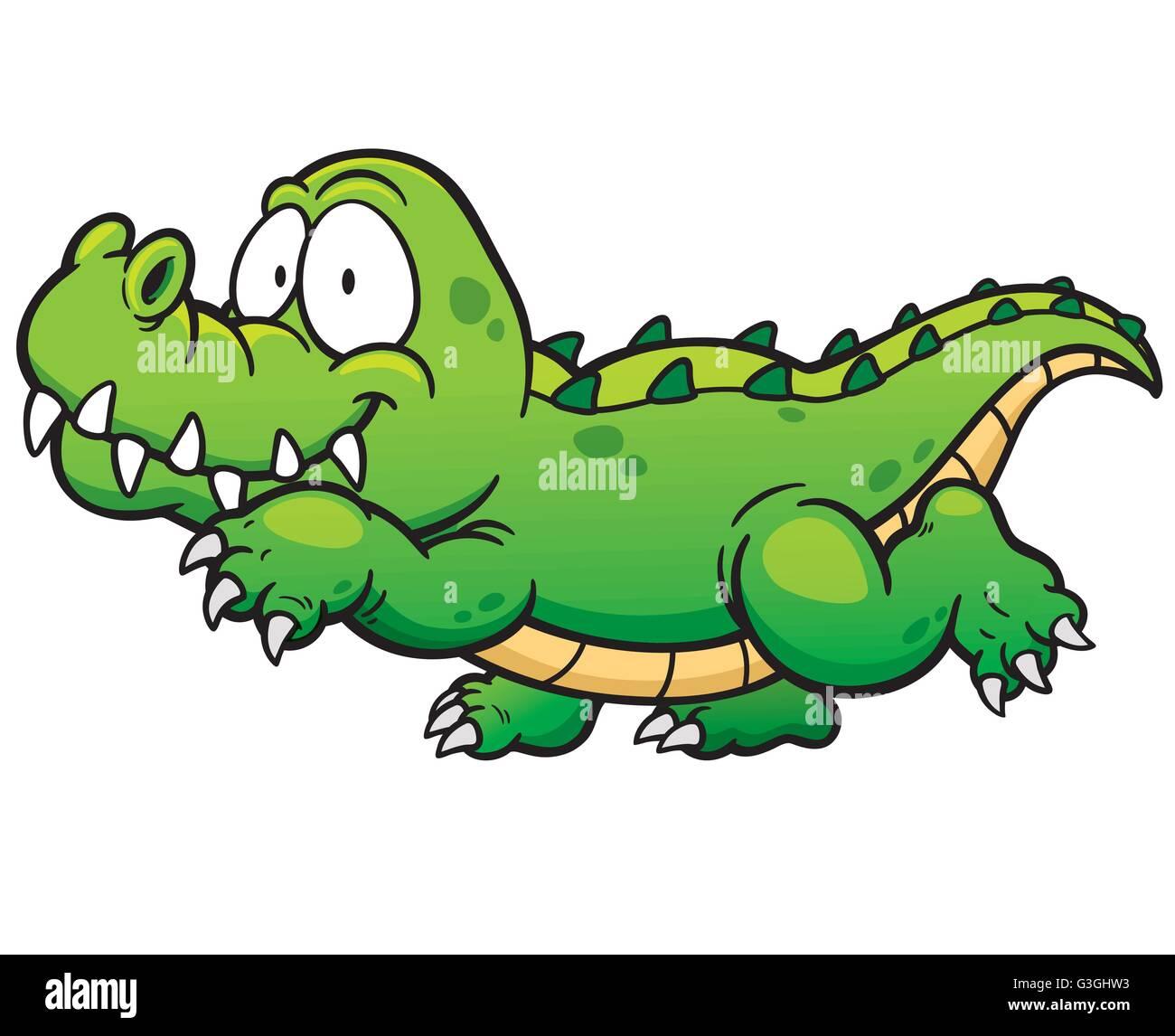Vector illustration de crocodile dessin anim vecteurs et illustration image vectorielle - Dessin anime crocodile ...