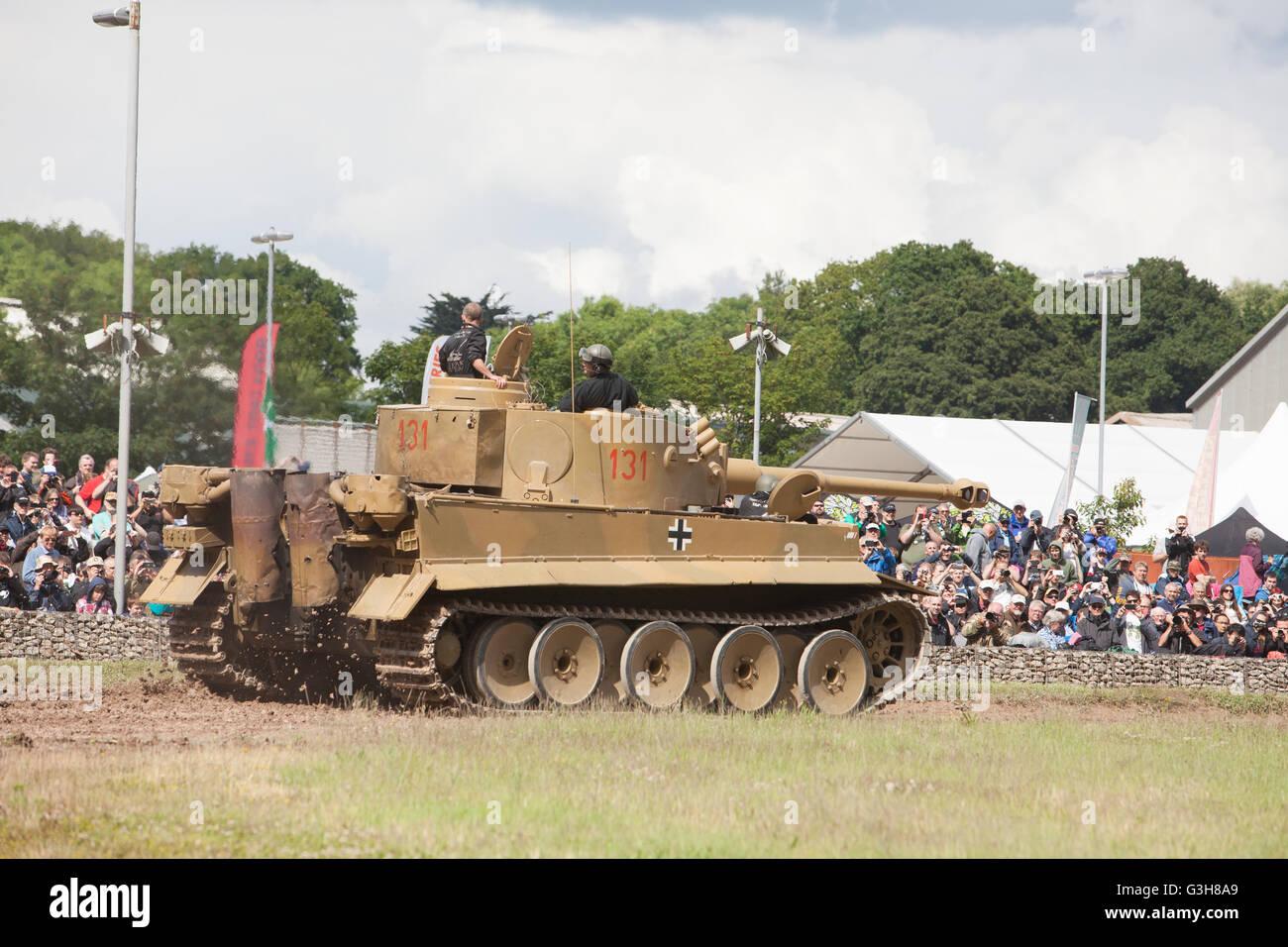 Bovington, Dorset, UK. 25 juin 2016. Tankfest show militaire. German Tiger 1 (numéro 131) en arène principale. Photo Stock