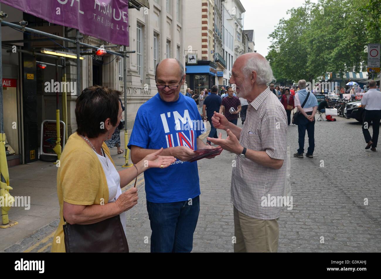 La Grande-Bretagne en Europe plus forte campagne en juin 2016 Norwich, avant l'organisation d'un référendum Photo Stock