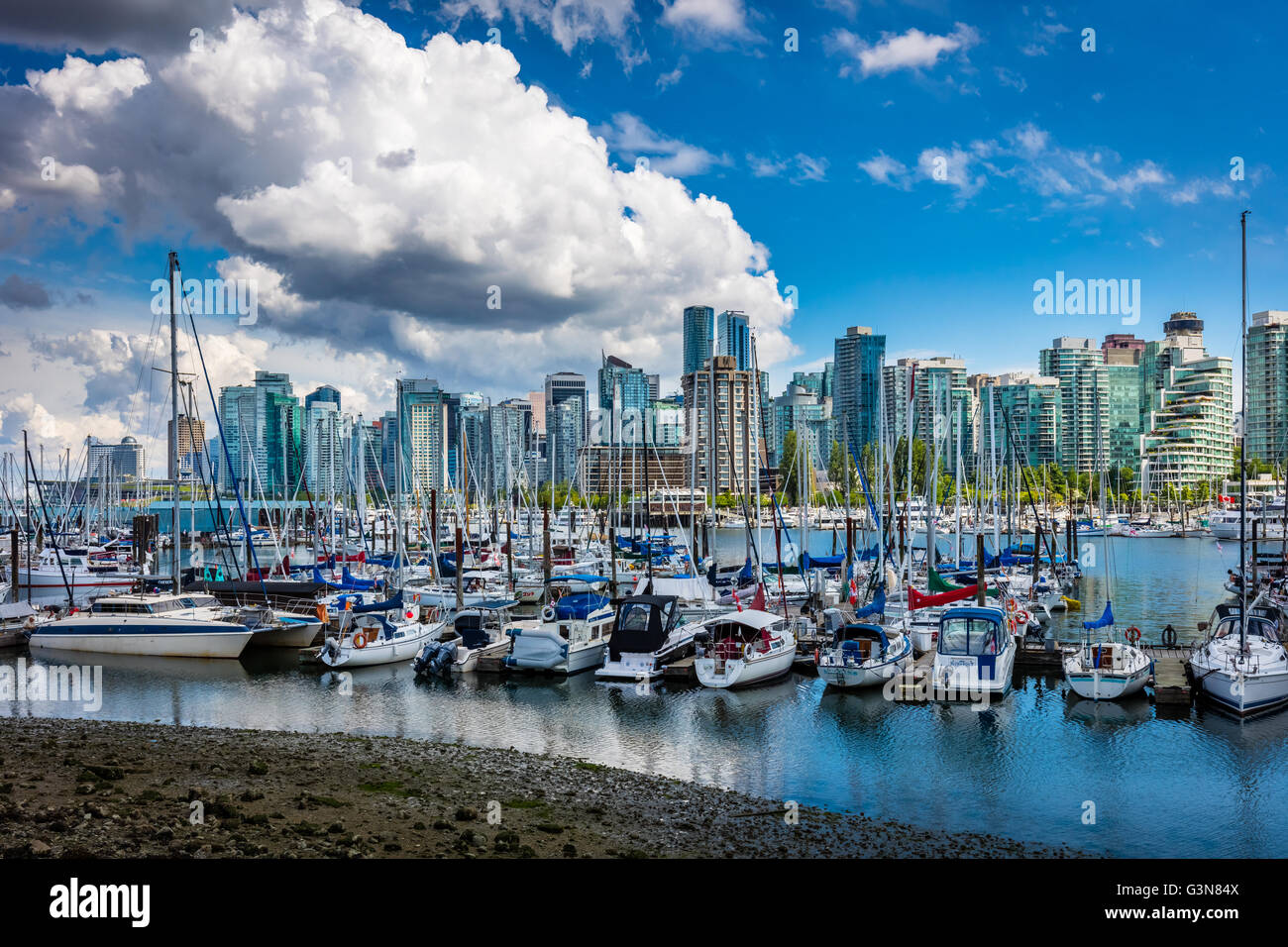 Vancouver est la ville la plus peuplée de la province canadienne de la Colombie-Britannique. Photo Stock