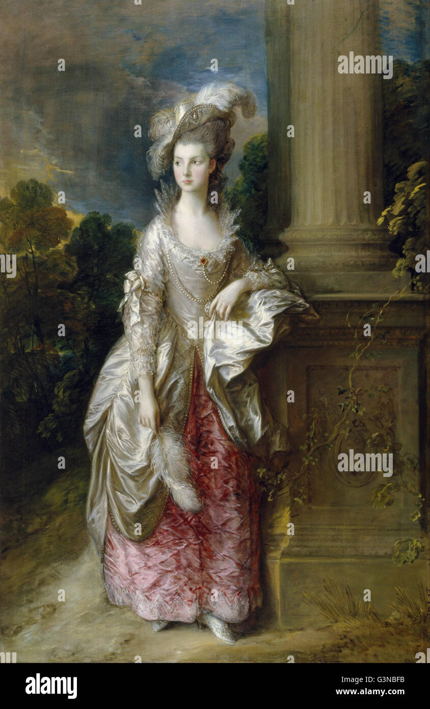 Thomas Gainsborough - l'Honorable Mme Graham (1757 - 1792) Photo Stock