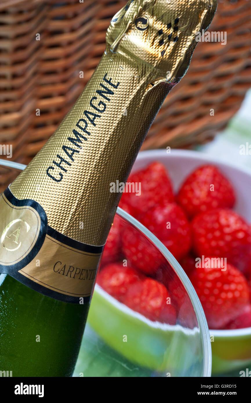 F te champ tre photos f te champ tre images alamy - La bouteille sur la table ...