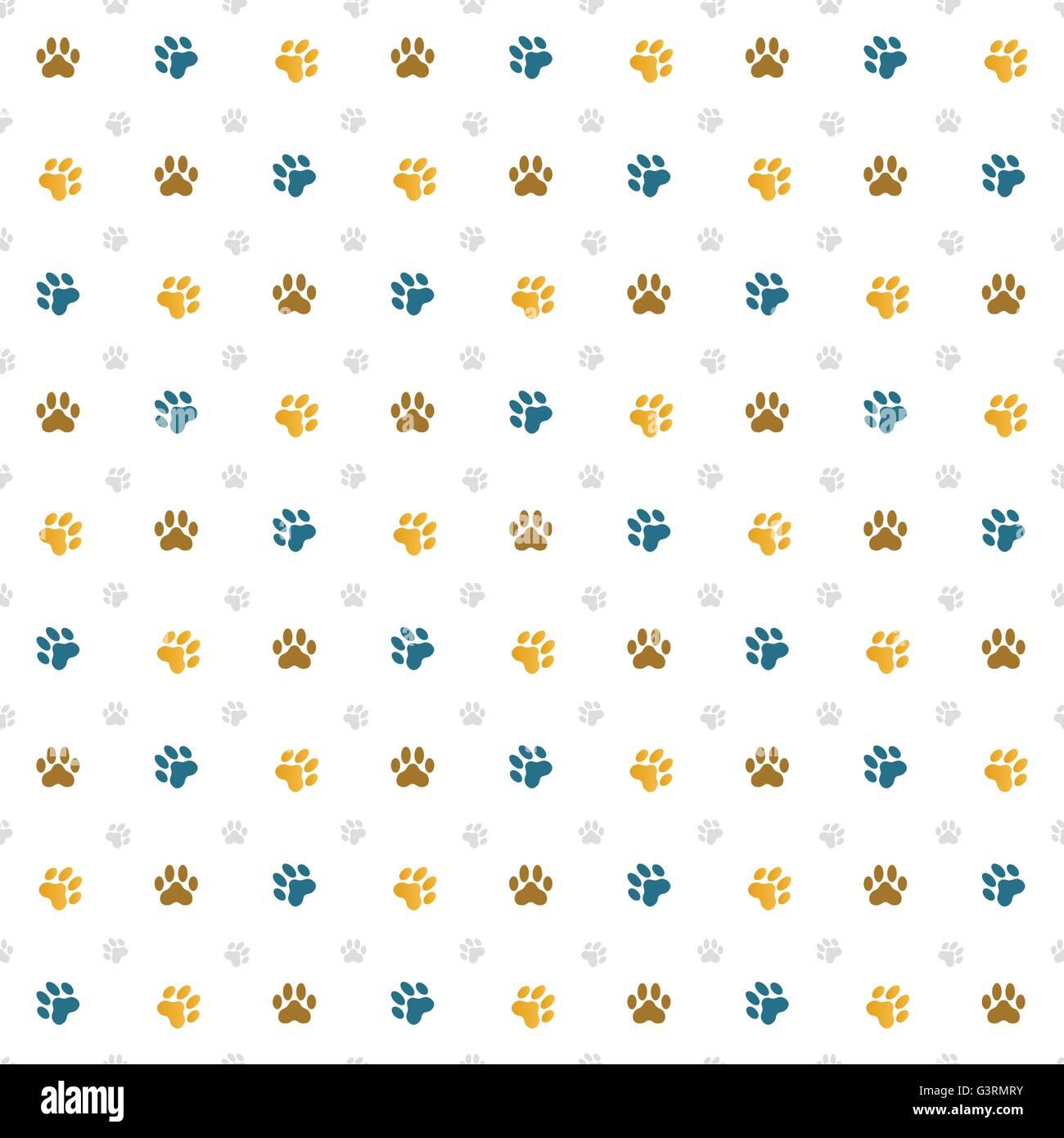 Motif de fond transparente composée d'empreintes de pattes de chat Photo Stock