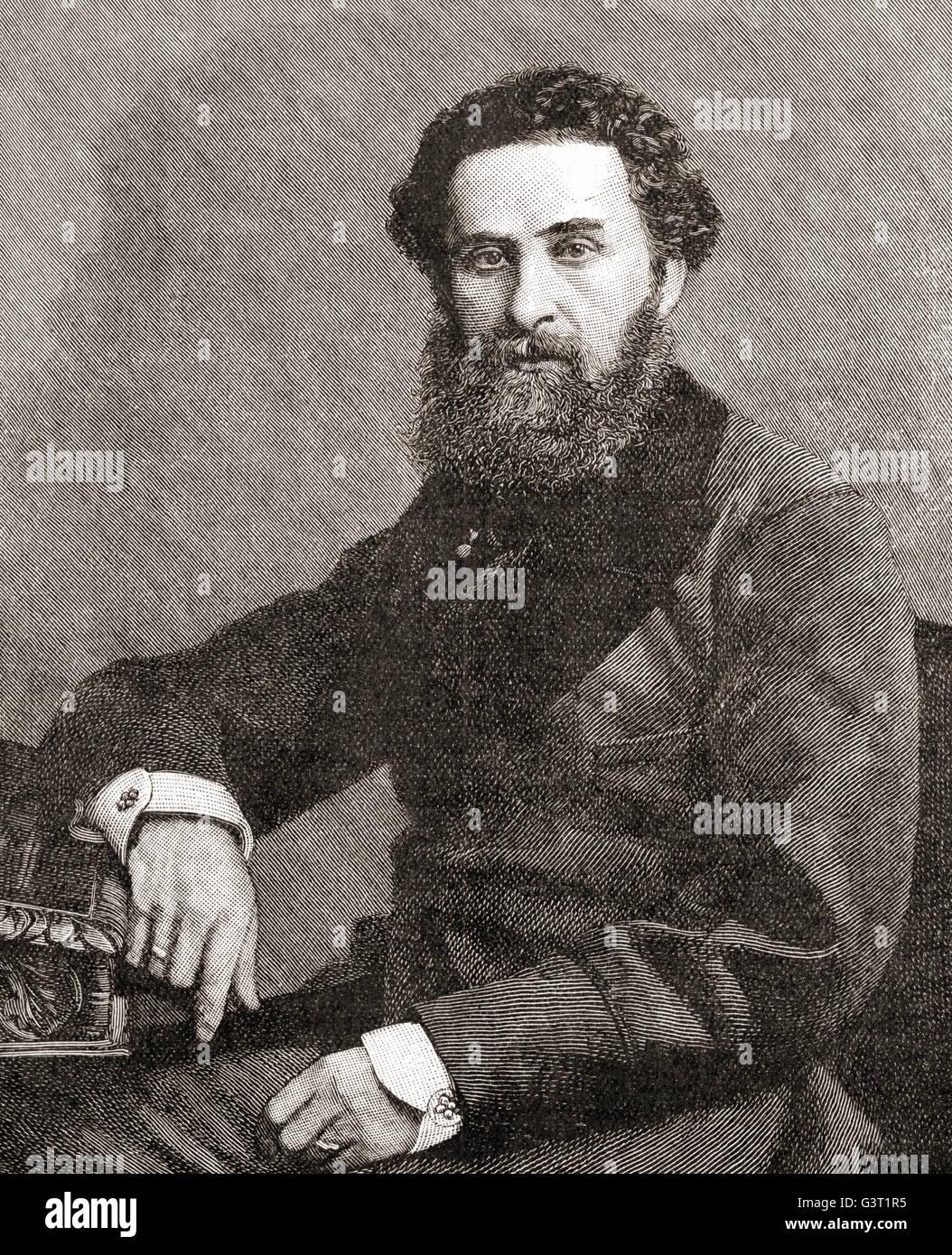 Edward Robert Lytton Bulwer-Lytton, 1er comte de Lytton, 1831 - 1891. D'État anglais, poète, vice-roi et gouverneur général de l'Inde. Banque D'Images