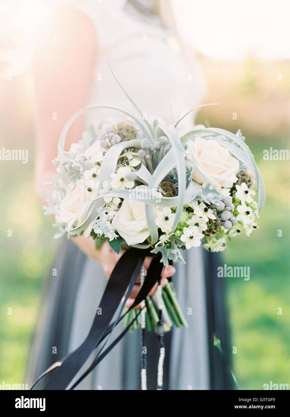 La Suède, près de bouquet de mariage blanc Banque D'Images