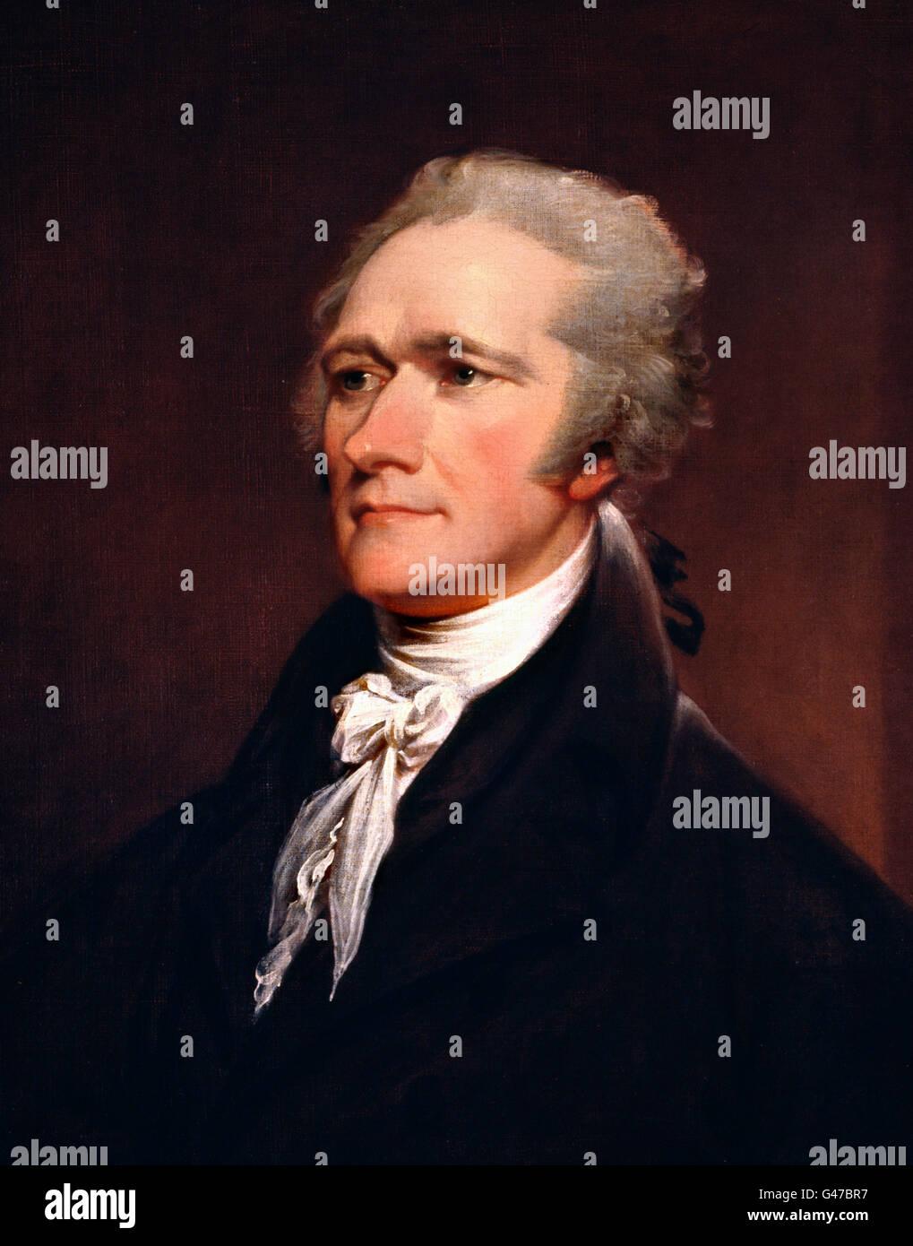 Alexander Hamilton (1755-1804). Portrait par John Trumbull, huile sur toile, 1806 Photo Stock