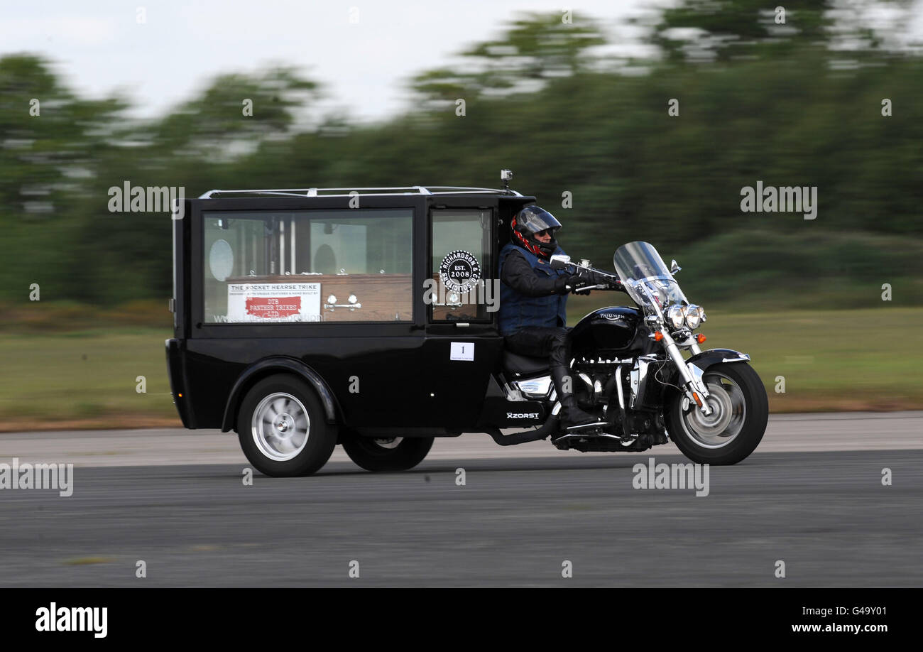 Corbillard De Moto Le Plus Rapide Au Monde Banque D Images Photo