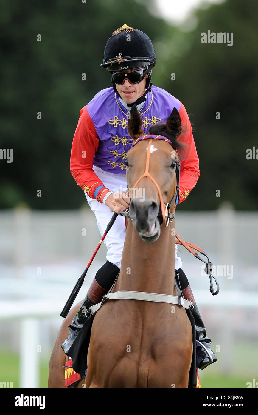 Les courses de chevaux - Newbury Banque D'Images