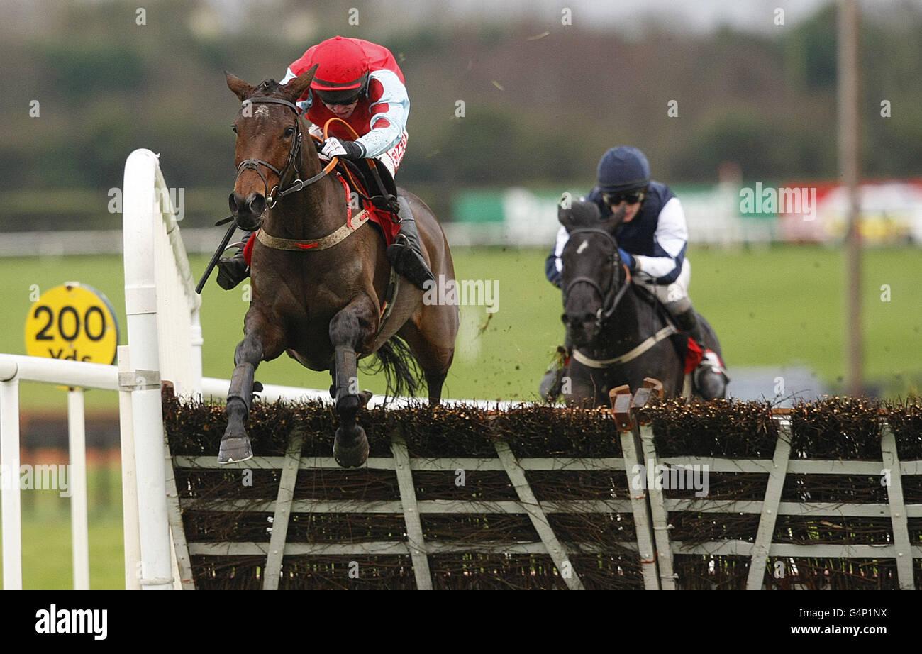 Les courses de chevaux - premier week-end de courses d'obstacles - Jour deux - Hippodrome Fairyhouse Photo Stock