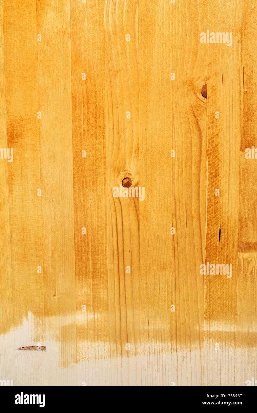 Planche De Bois Franc Peint Texture Jaune Avec La Peinture