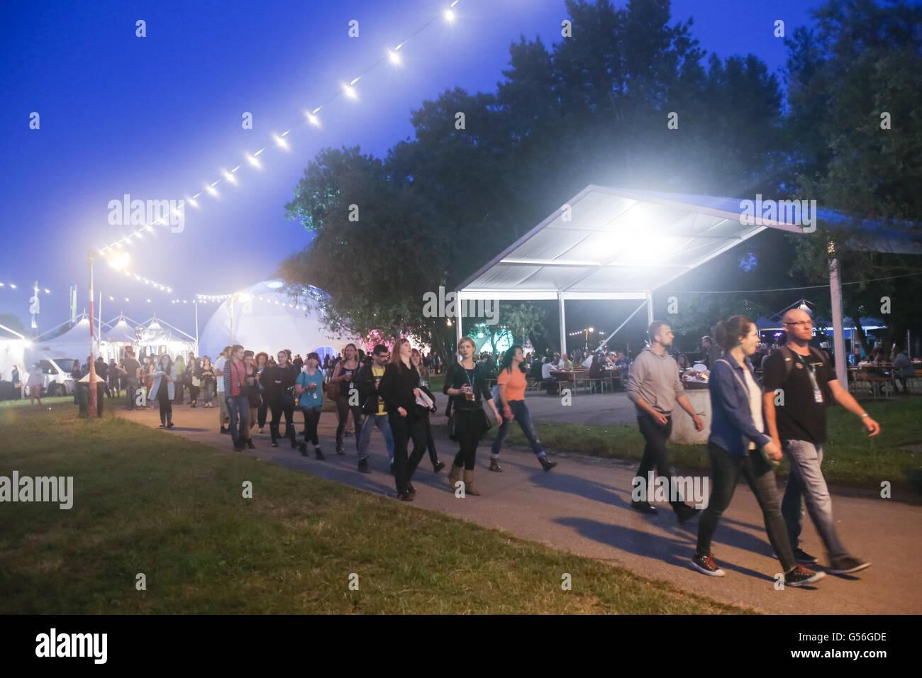Zagreb, Croatie. 20 Juin, 2016. Ambiance et atmosphère: le premier jour de 11e festival INmusic situé Photo Stock
