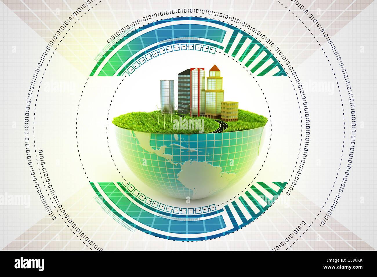 Concept de l'écologie Photo Stock