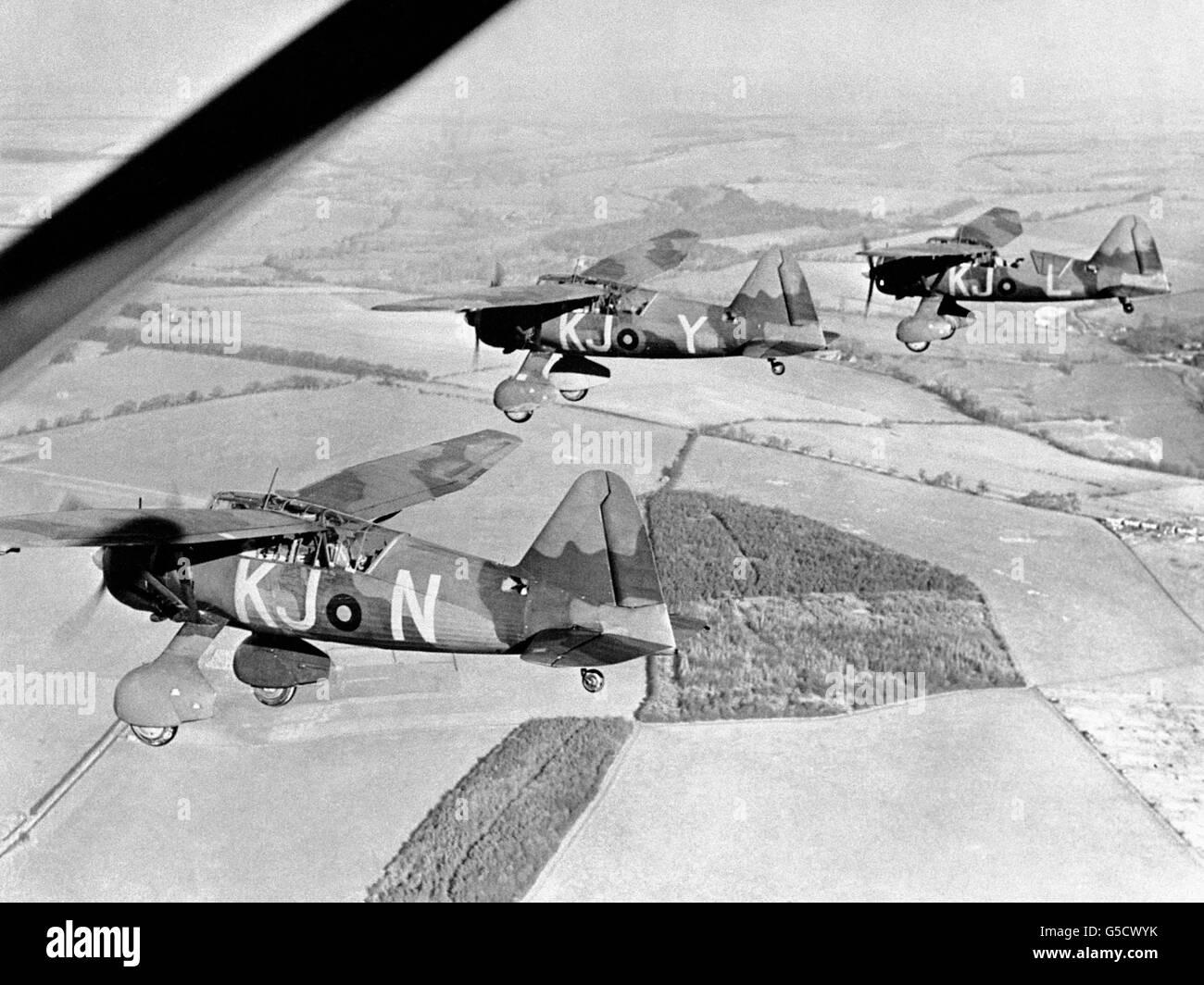 La Seconde Guerre mondiale - Empire britannique - Accueil - Avant - Aéronefs de l'Armée britannique - Lysandre - 1939 Banque D'Images