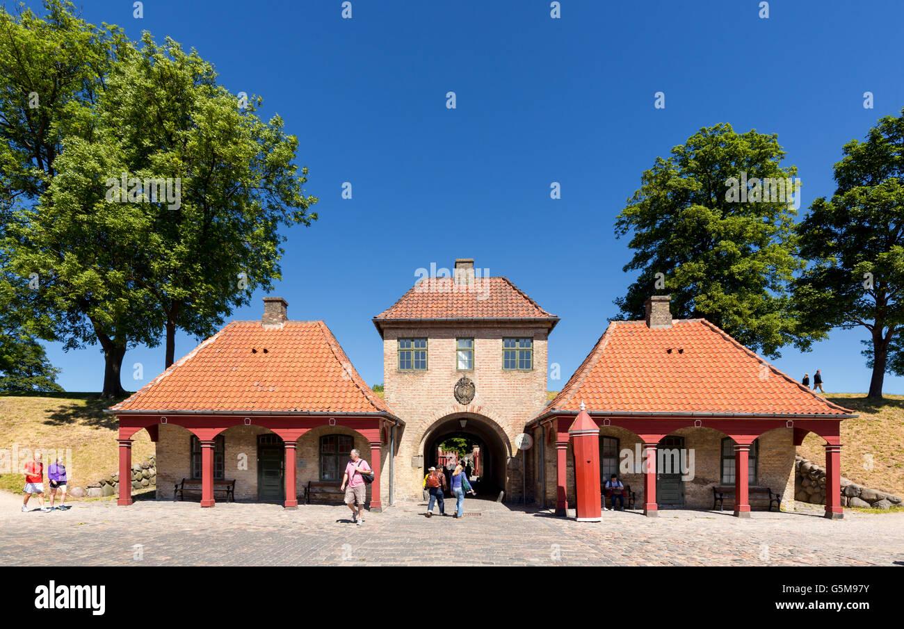 Passerelle historique sur l'île fortifiée de Kastellet, Copenhague, Danemark Banque D'Images