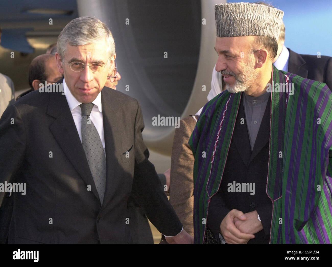 Hamid Karzaï Visite Banque D'Images