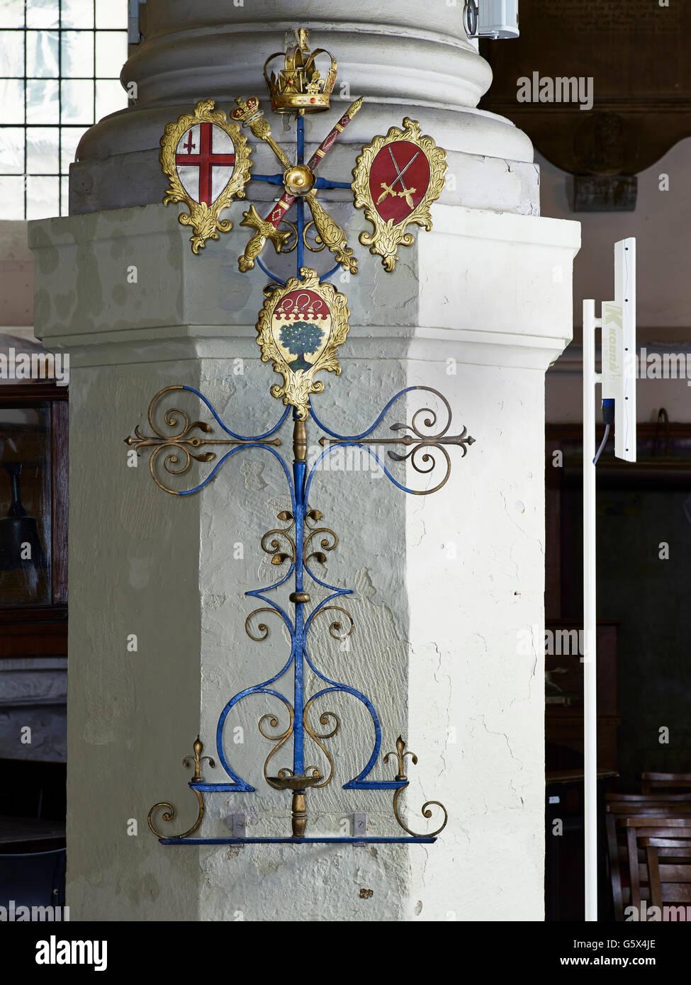 L'église St sépulcre, dans la ville de Londres; épée reste Photo Stock