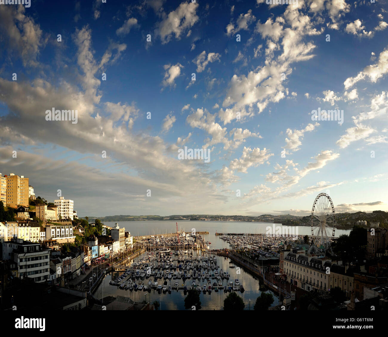 Go - Devon : le port de Torquay Photo Stock