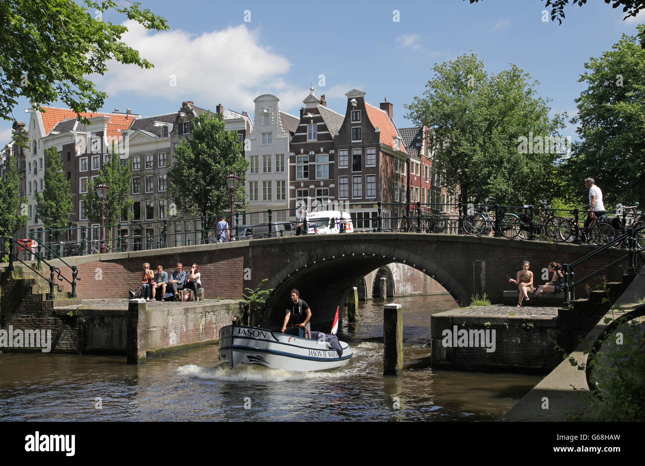 Amsterdam canal cruise Photo Stock