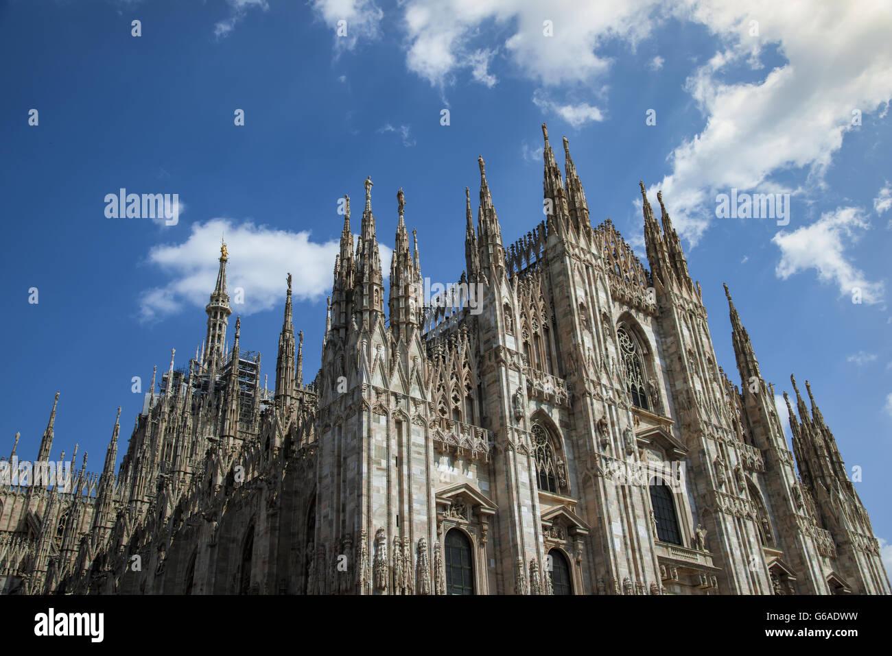 Duomo di Milano, la cathédrale de Milan, symbole de la Lombardie et dans toute l'Italie Photo Stock