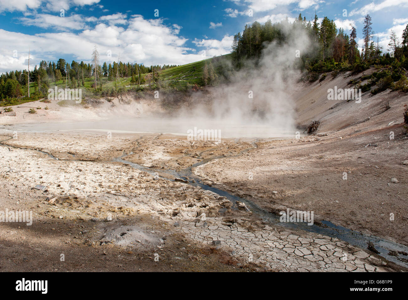 Hot Spring dans le Parc National de Yellowstone, Wyoming, USA Photo Stock