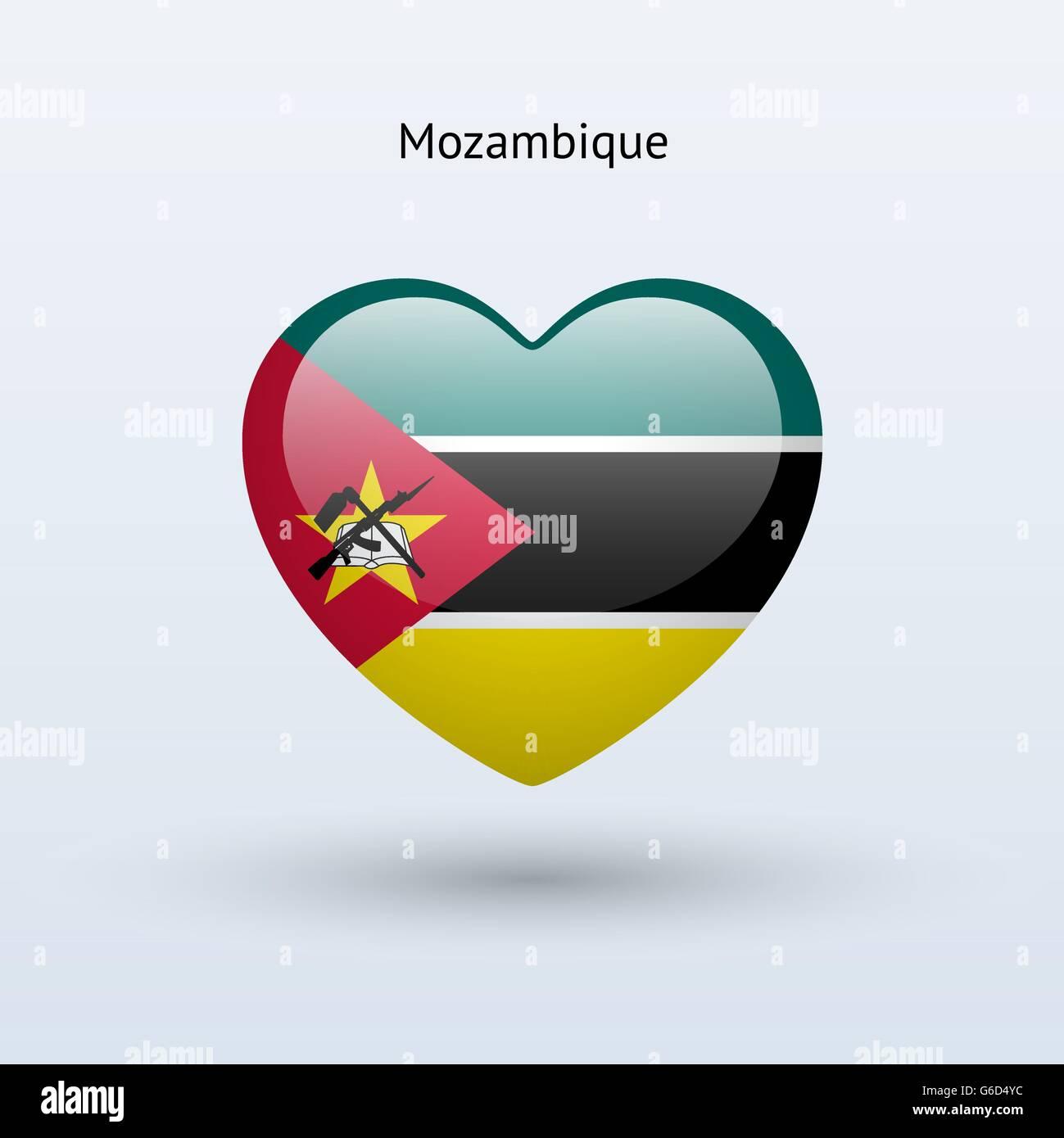 symbole de l u0026 39 amour au mozambique  l u0026 39 ic u00f4ne du drapeau du