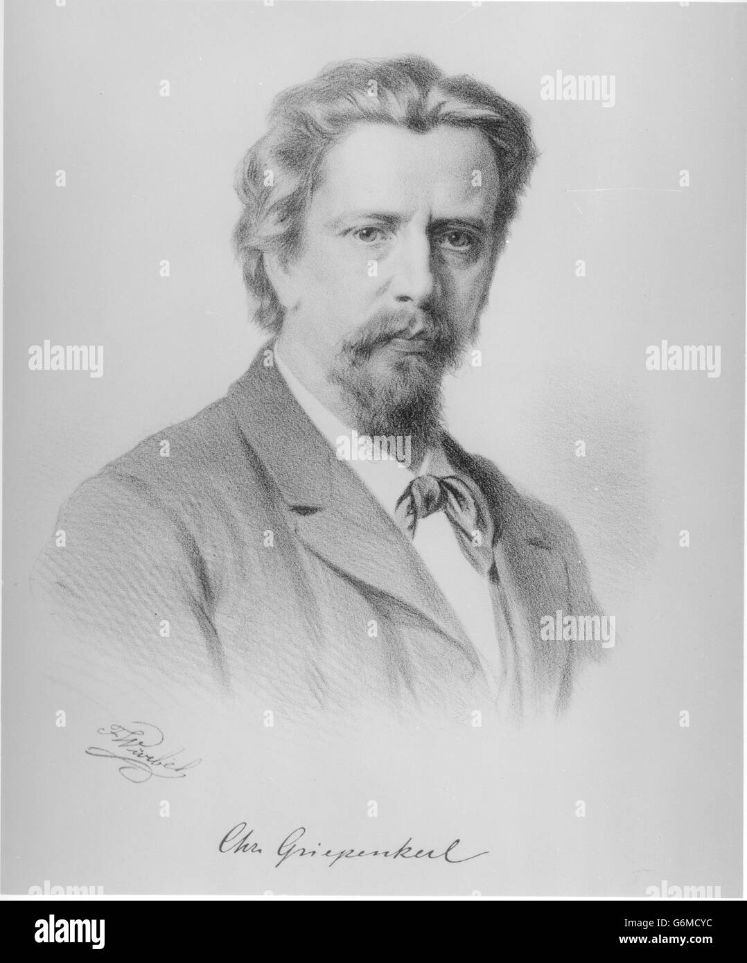 Bildnis Christian Griepenkerl Photo Stock