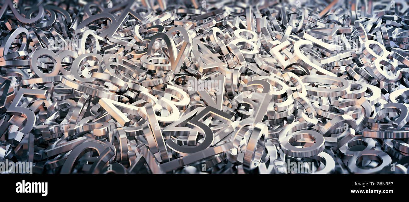 Ensemble de nombres aléatoires illustration d'arrière-plan Photo Stock