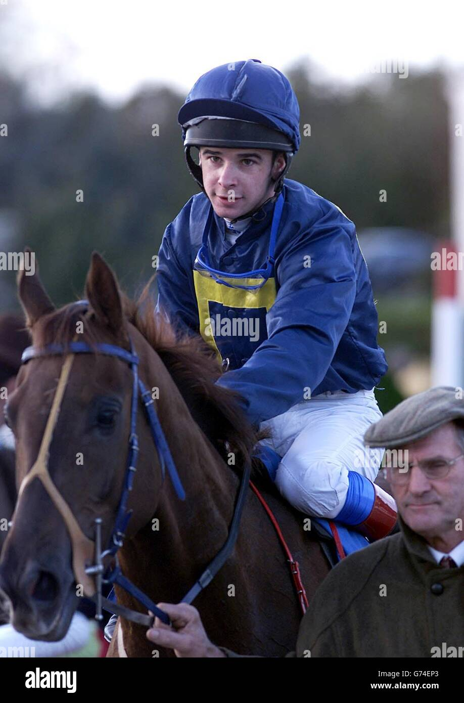 Fourbe avec Fran Jockey Ferris Photo Stock