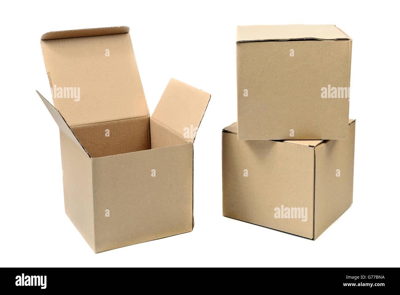 Recycler l'emballage boîte marron Photo Stock