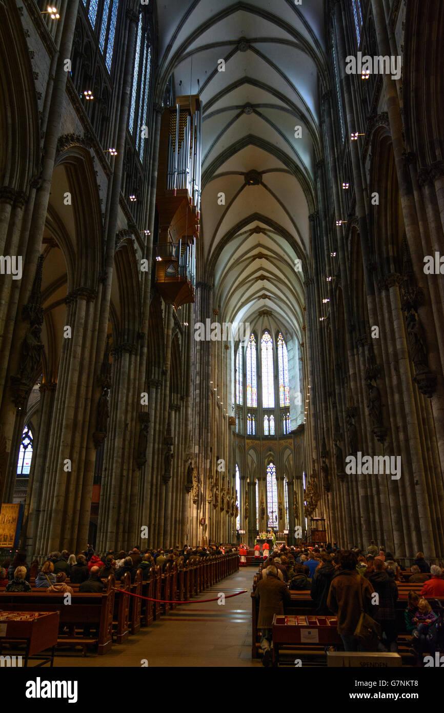 Lors de l'entretien, la cathédrale de Cologne, Cologne, Allemagne, Nordrhein-Westfalen, Rhénanie du Photo Stock