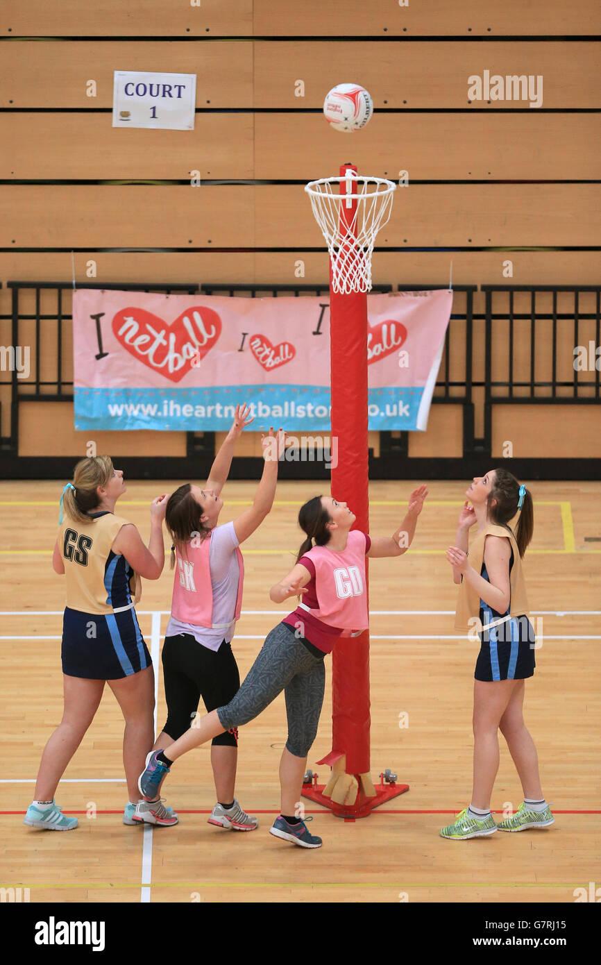 Le netball Netball - dans la ville - Cuivre fort Arena Photo Stock