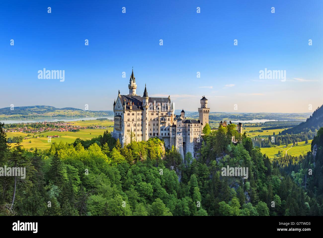 Le château de Neuschwanstein, Fussen, Allemagne Photo Stock