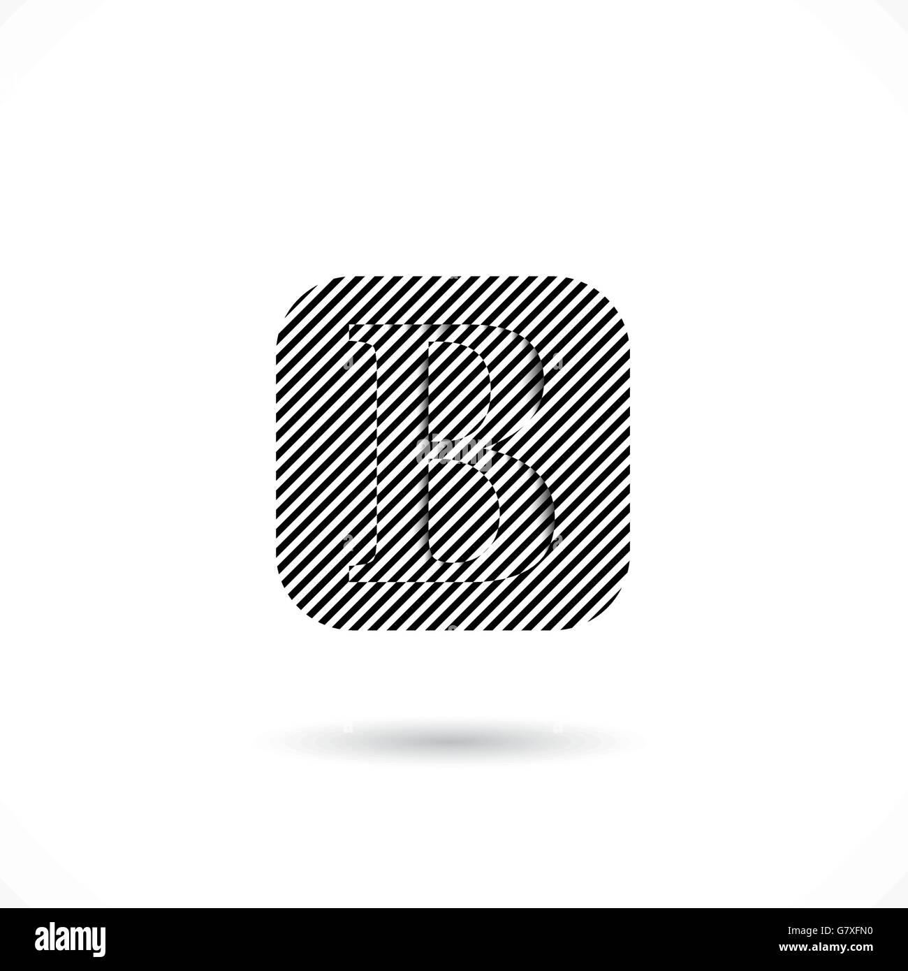 B Creative Lettre Resume Icone Vecteur Conception De Logo Template B