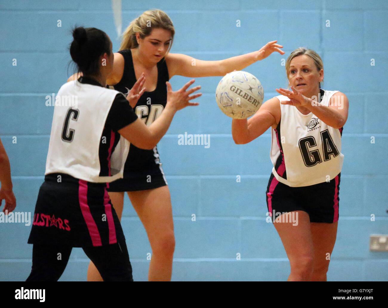 - Retour à l'Angleterre Netball Netball Événement - Mapperley Sports Village - Nottingham Photo Stock