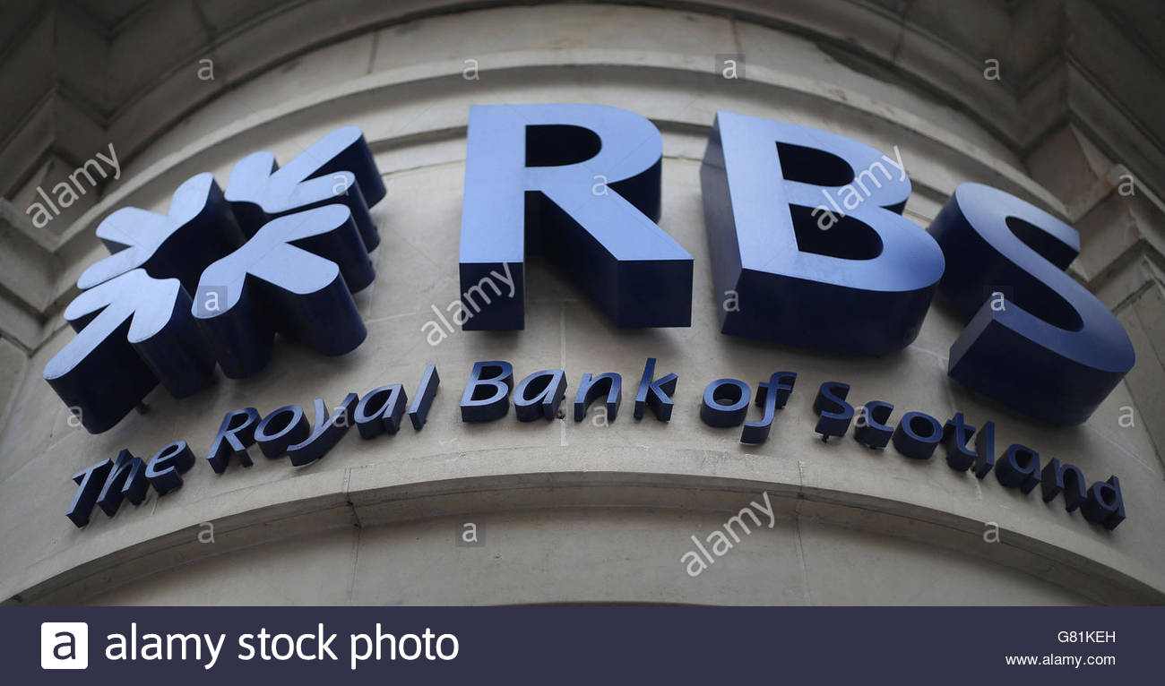 Photo de fichier en date du 03/04/14 d'une succursale de la Banque Royale d'Écosse dans Piccadilly Photo Stock