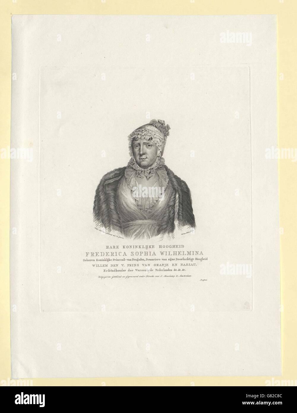 Wilhelmine, Prinzessin von Preußen Banque D'Images