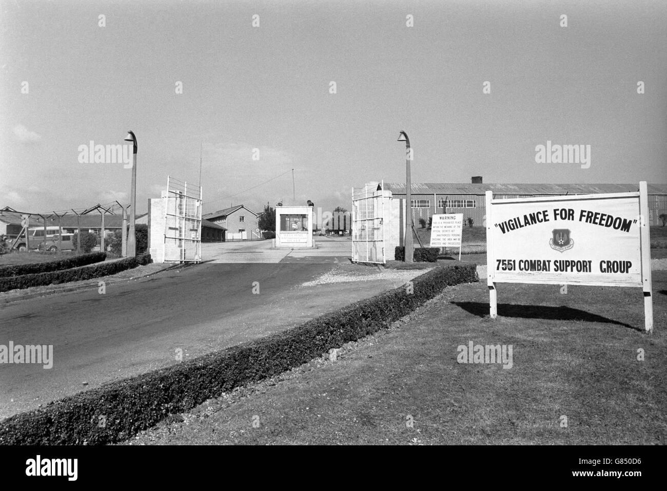 Dortoir - militaire - Base de l'USAF - Greenham Common Banque D'Images