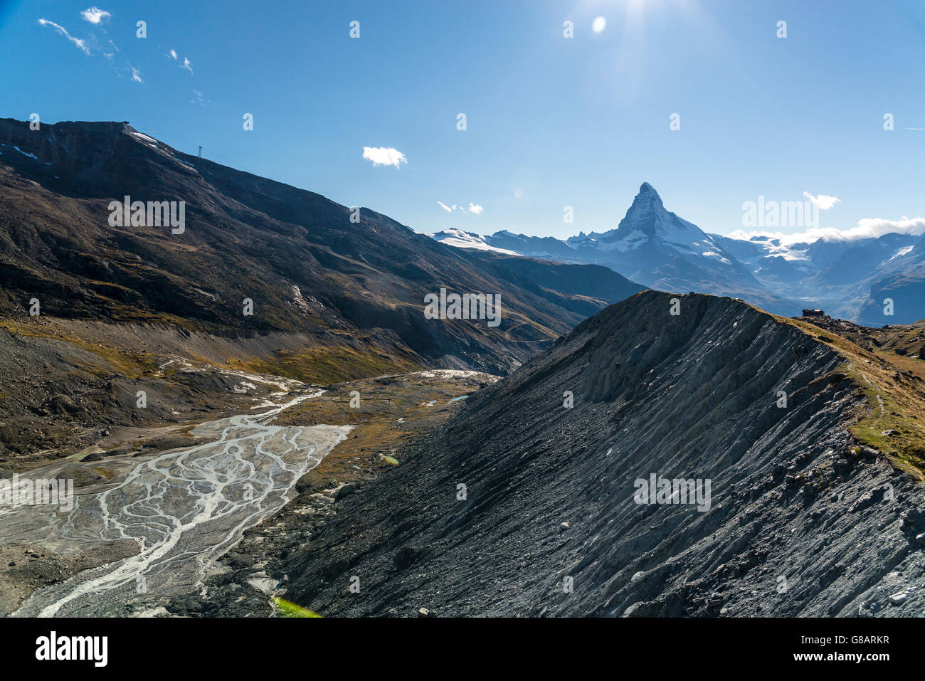 Vue sur Matterhorn, Zermatt, Suisse Banque D'Images
