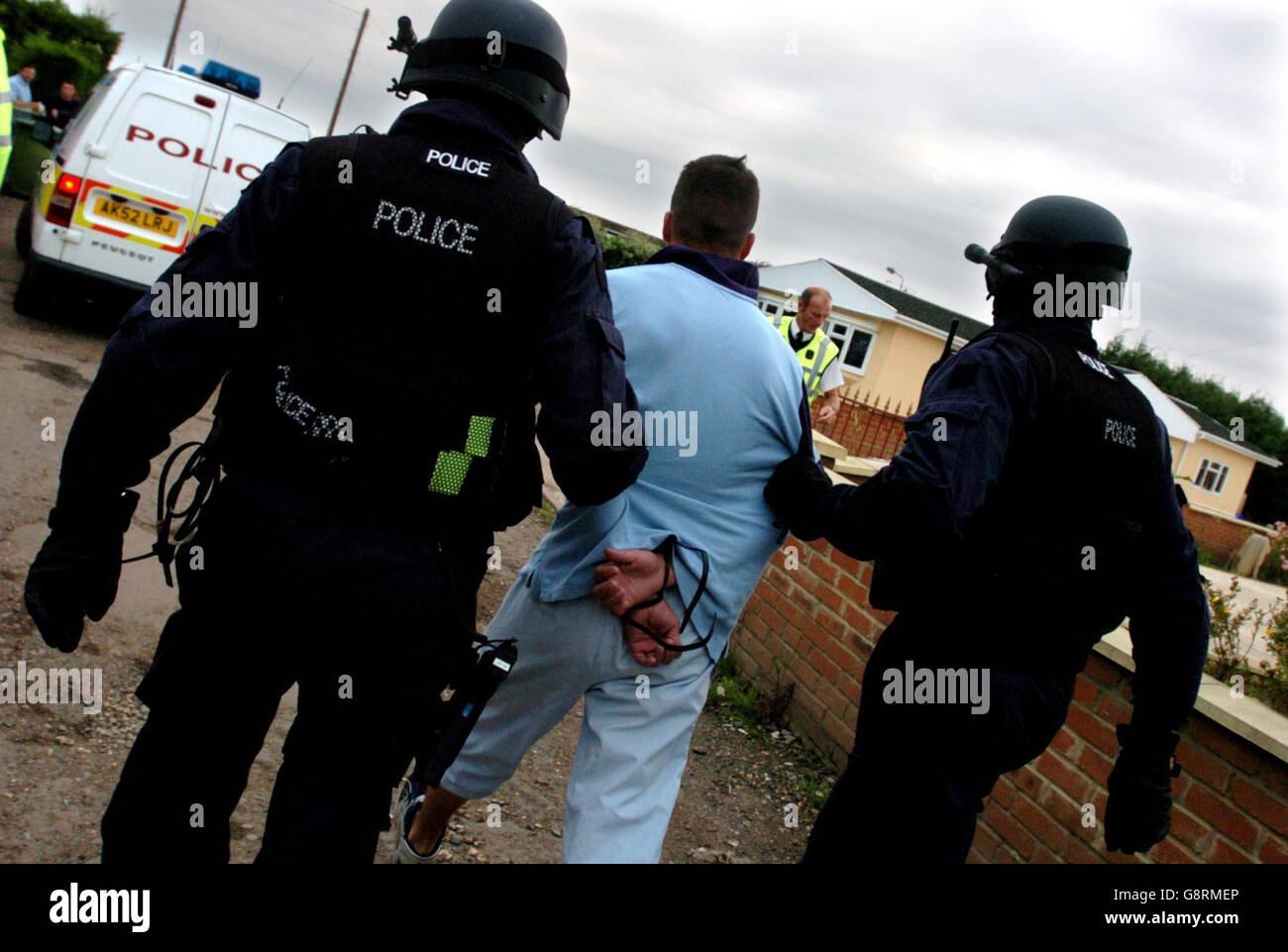 Poste de POLICE Photo Stock