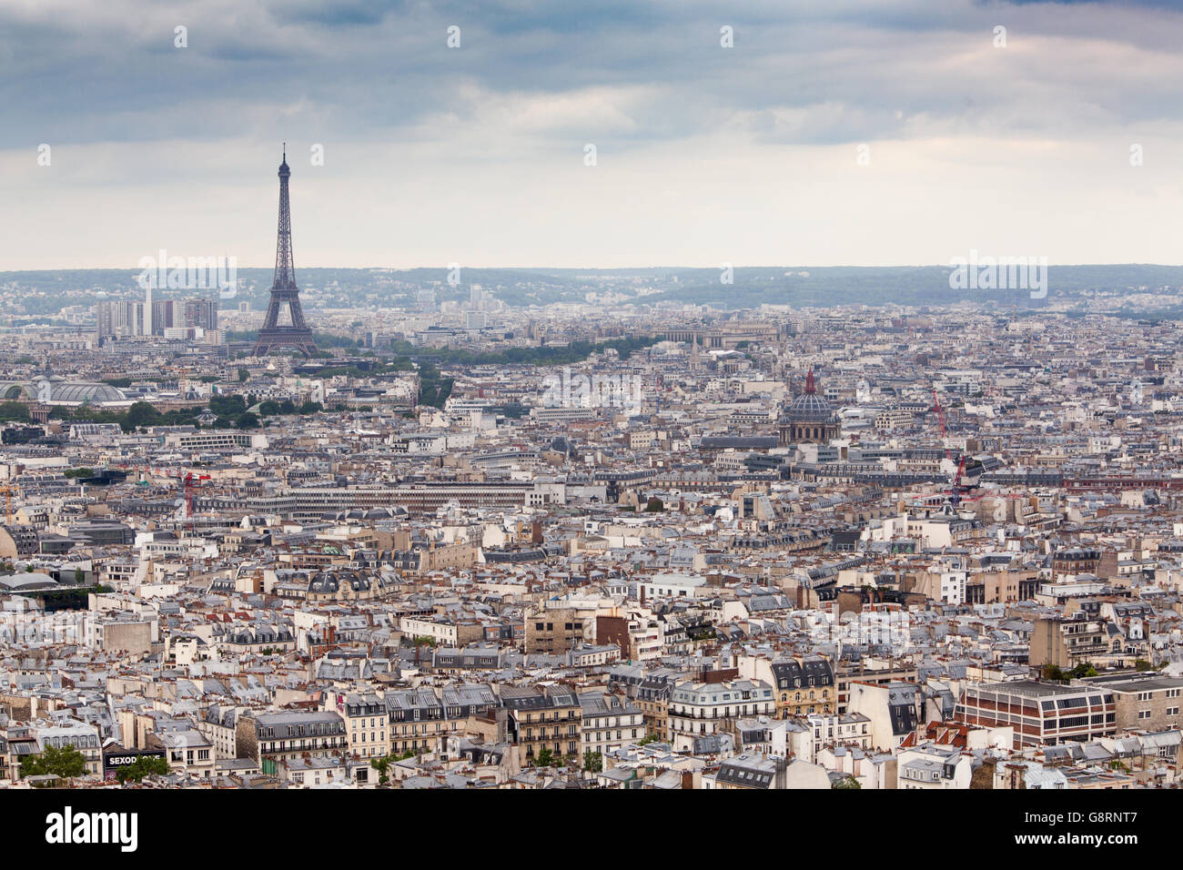 Vue grand angle de Paris, France Photo Stock