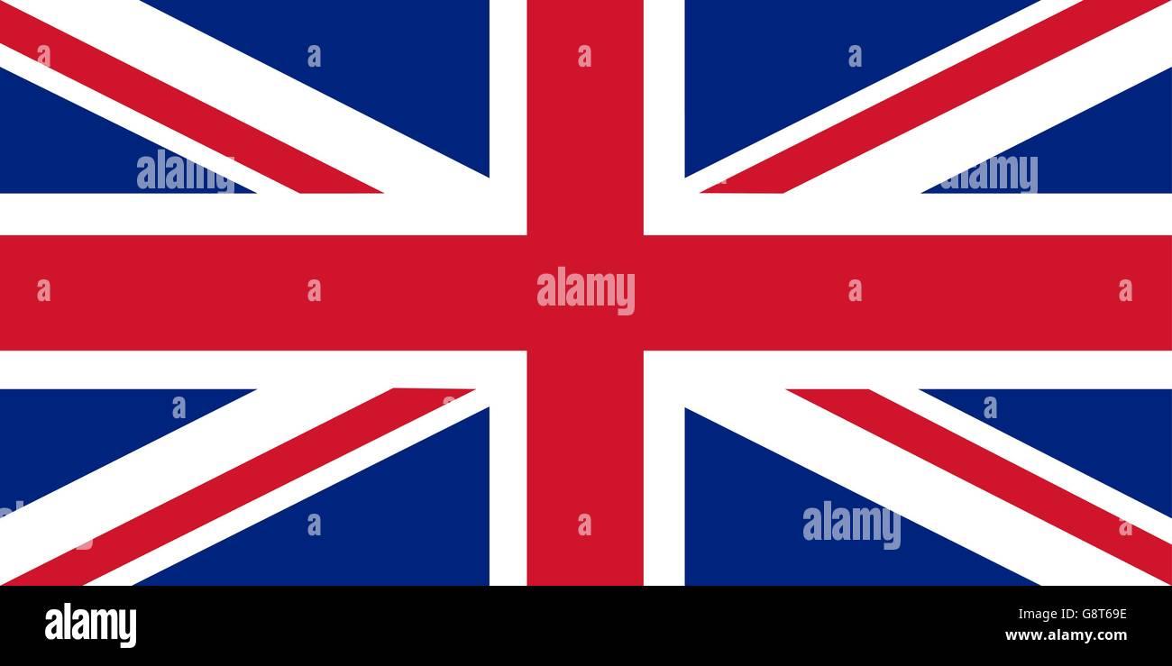 Union Jack - le pavillon du Royaume-Uni Illustration de Vecteur