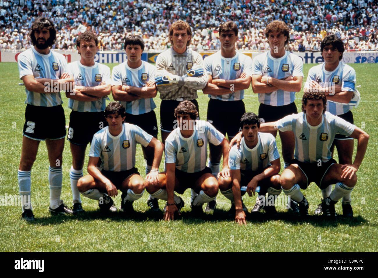L r jorge burruchaga photos l r jorge burruchaga images alamy - Coupe du monde mexique 1986 ...
