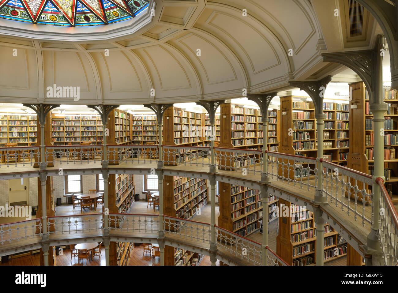 Linderman Bibliothèque, Lehigh University, 1878, avec sa rotonde victorienne Photo Stock