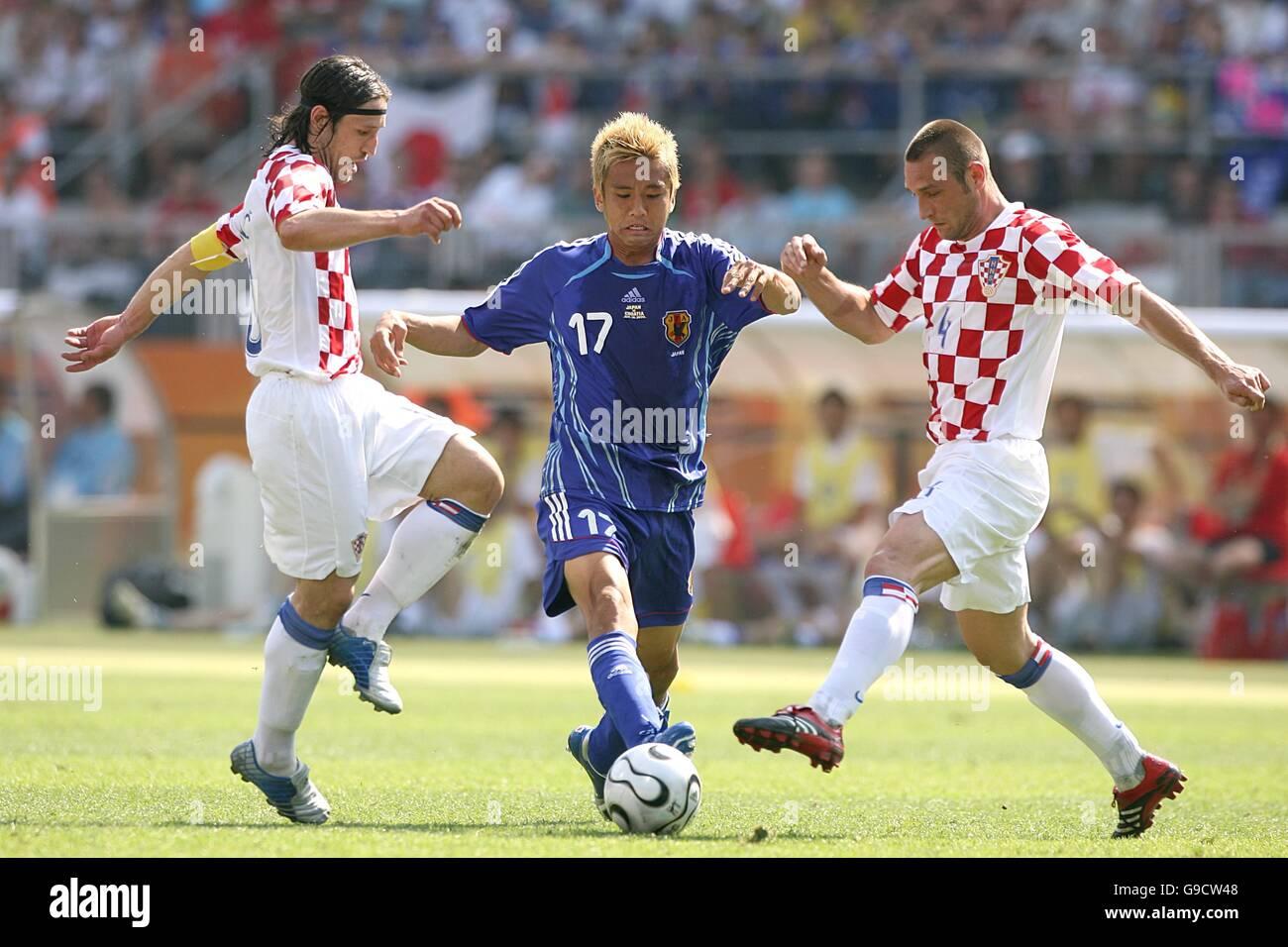 Football coupe du monde de la fifa 2006 groupe f japon v croatie franken stadion banque - Coupe du monde de football 2006 ...