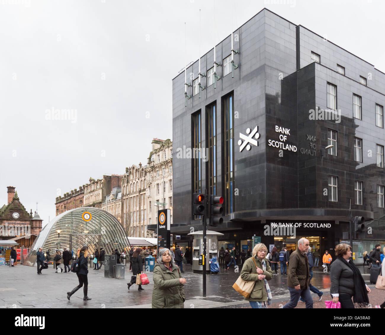 Bank of Scotland, Argyle Street, Glasgow, Scotland, UK Photo Stock