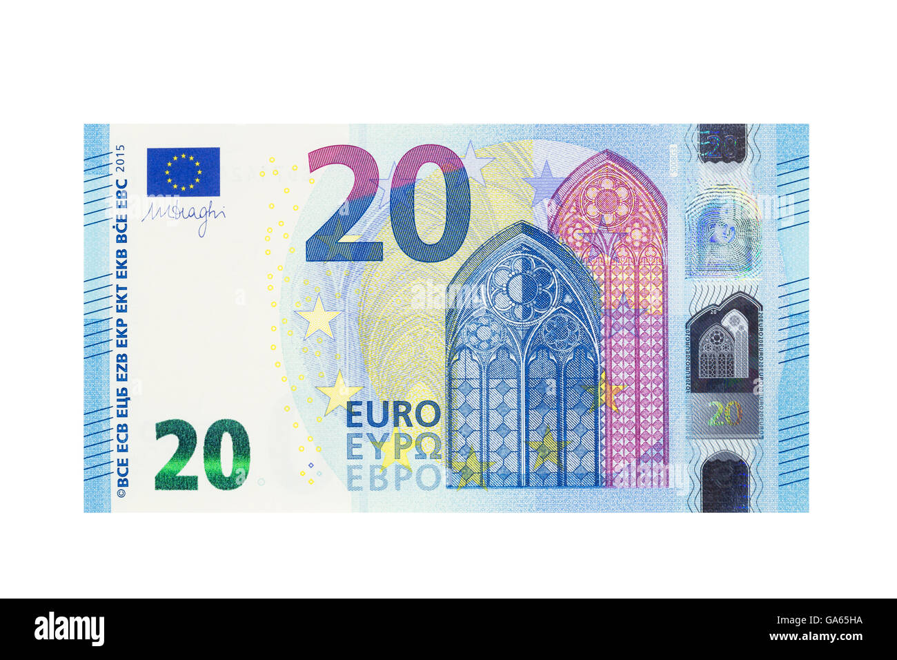 billet de vingt euros sur un fond blanc banque d 39 images photo stock 109544886 alamy. Black Bedroom Furniture Sets. Home Design Ideas