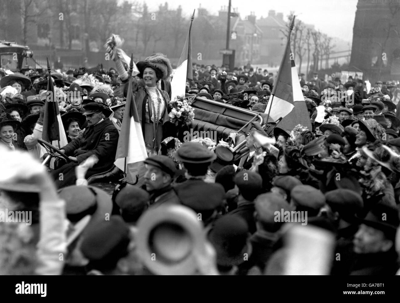La politique britannique - Les suffragettes - Londres - 1909 Banque D'Images