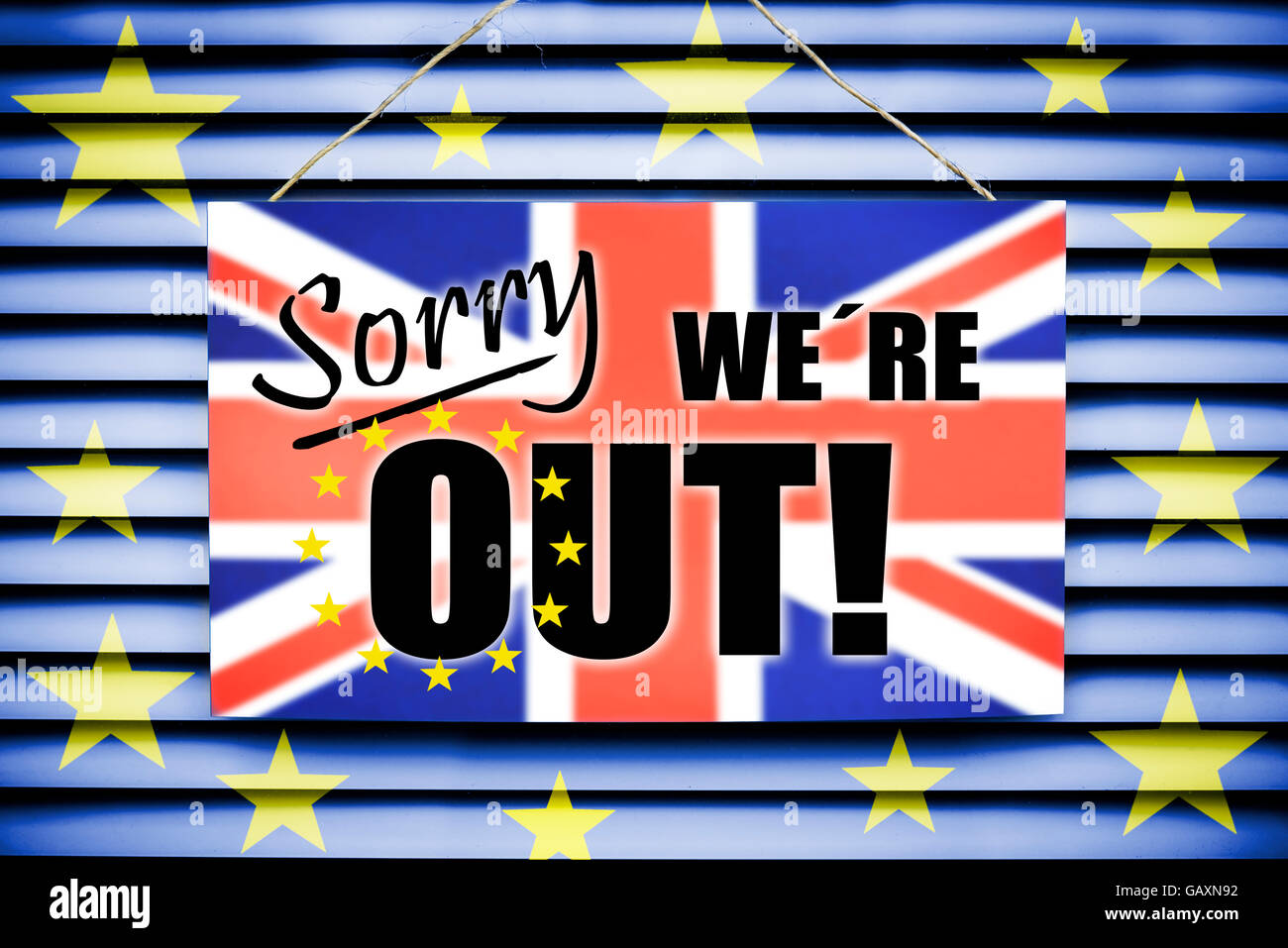 Inscrivez-vous Désolé nous sommes, Brexit Photo Stock